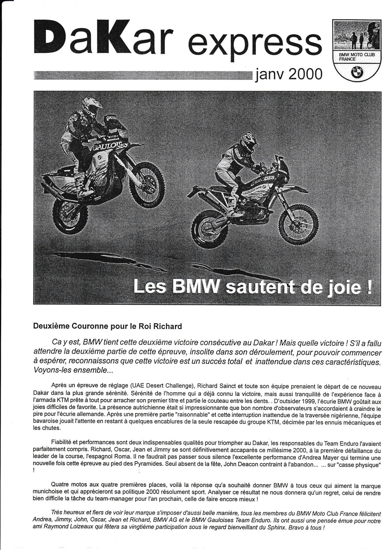 Dakar express janvier 2000
