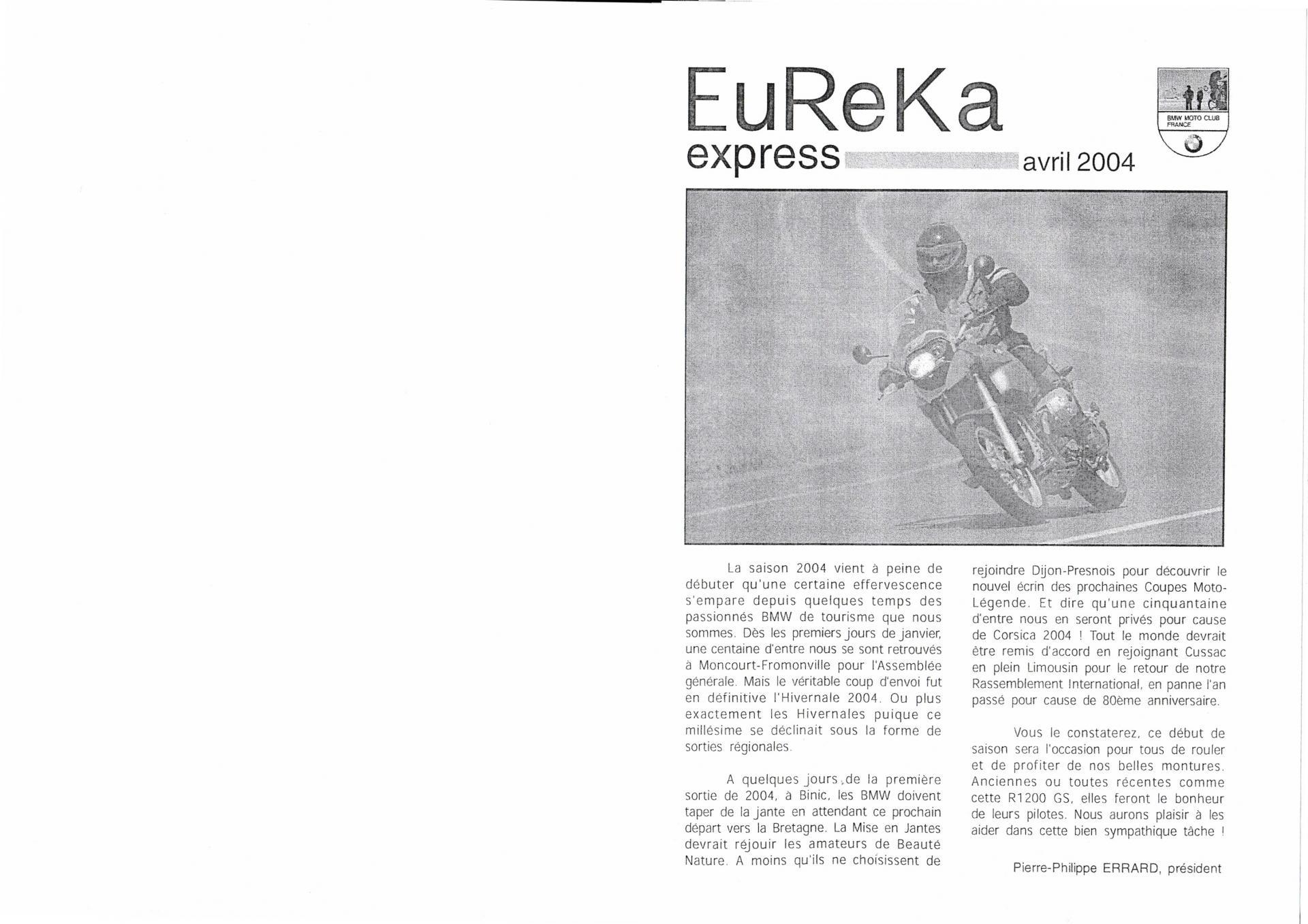 Eureka express avril 2004 1