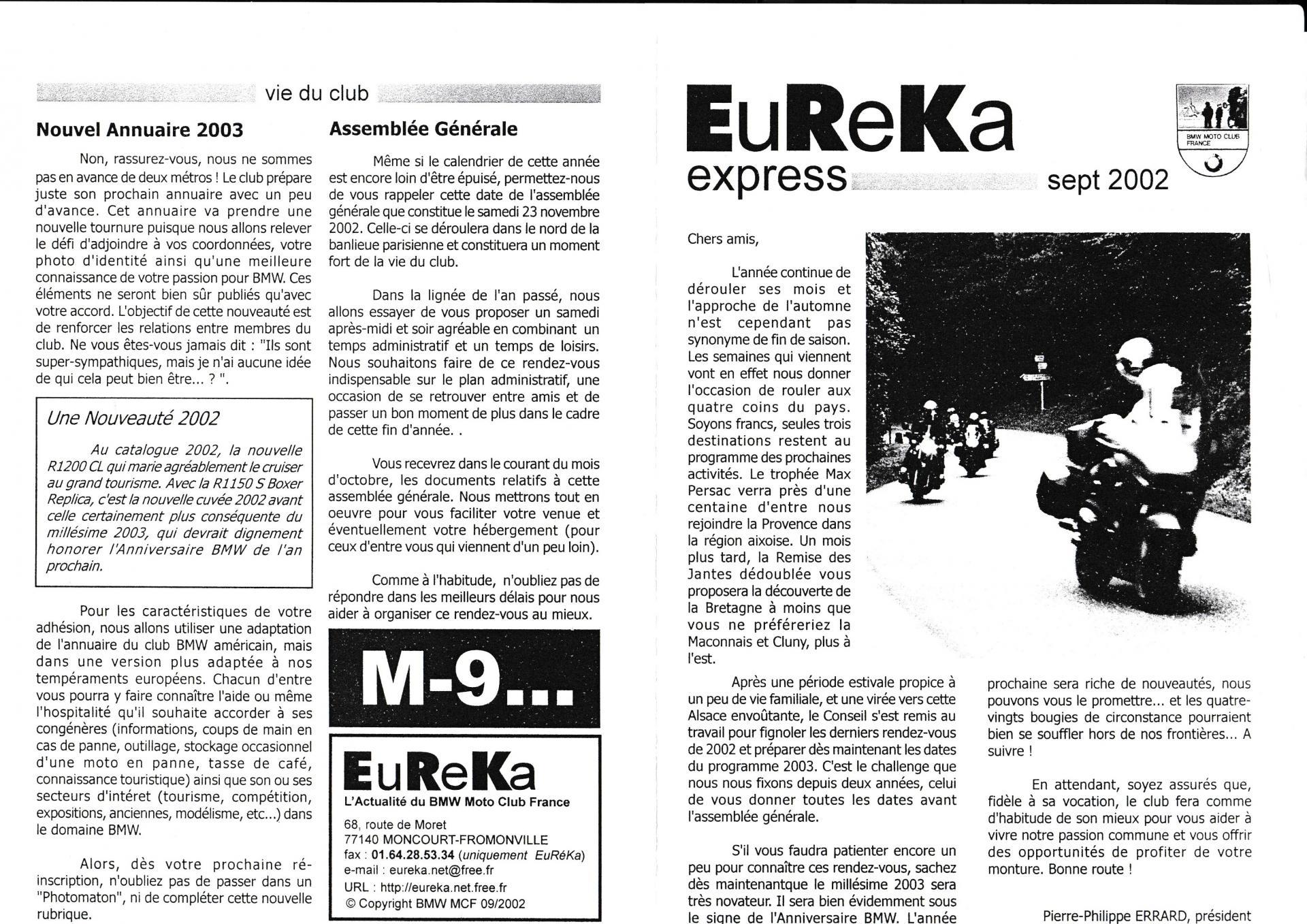 Eureka express septembre 2002 1