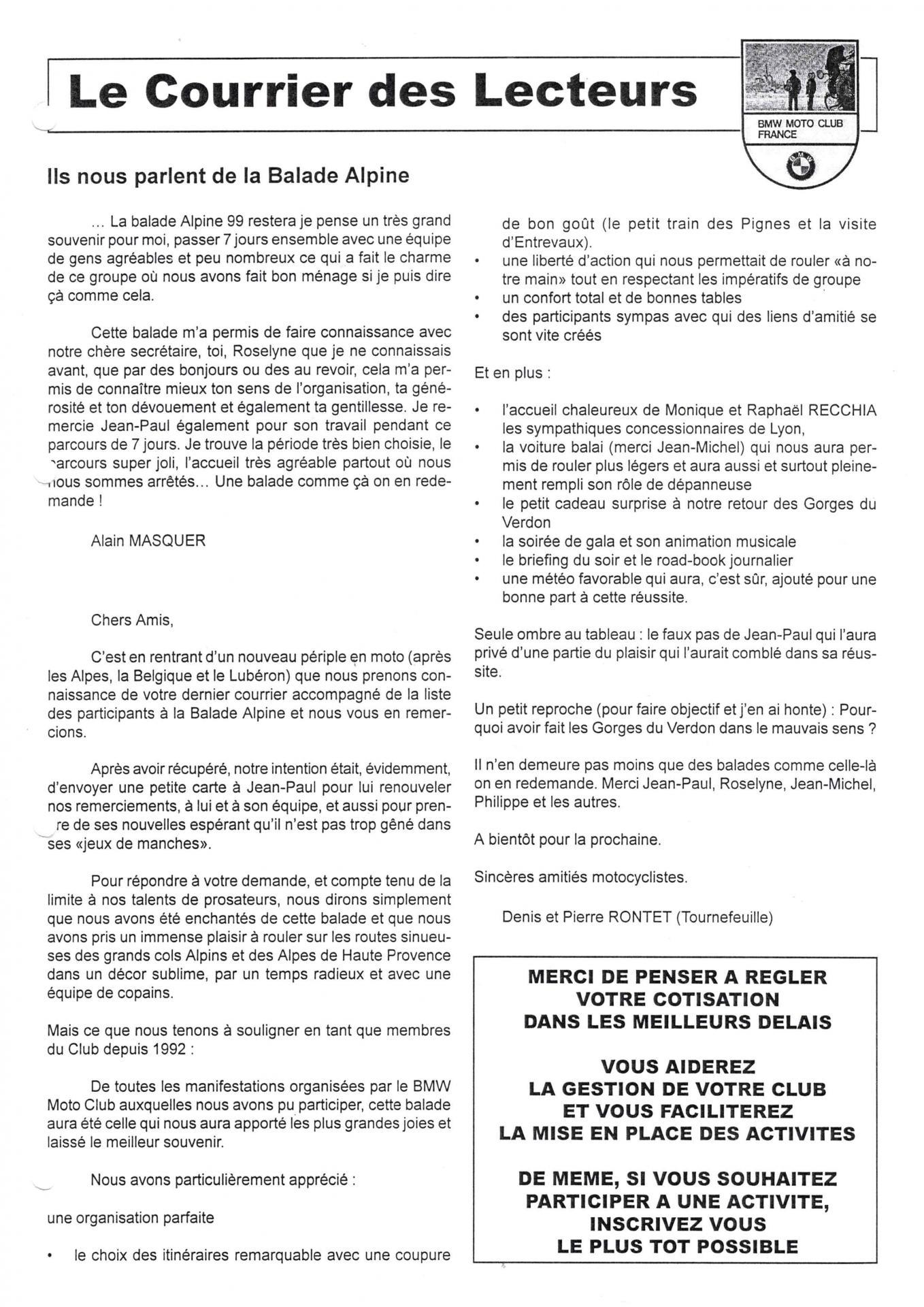 Eureka n 25 courrier lecteur page 3