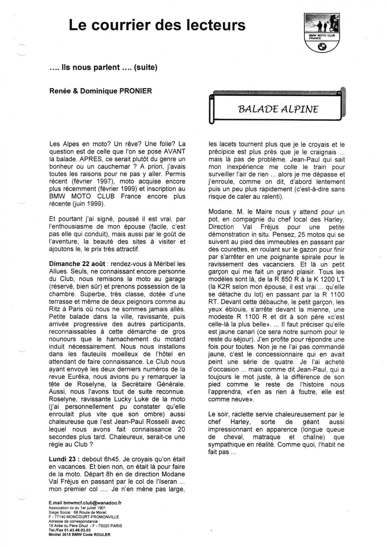 Eureka n 25 courrier lecteur page 4
