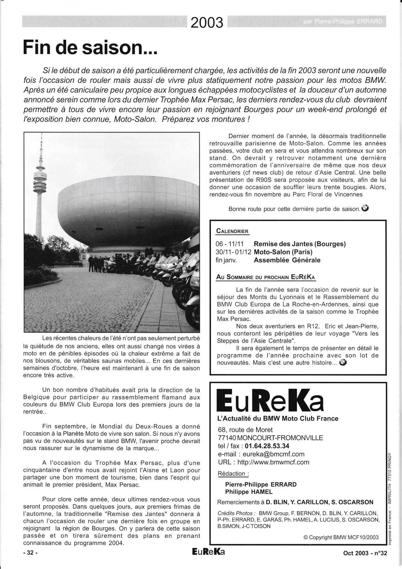 Eureka n 32 32
