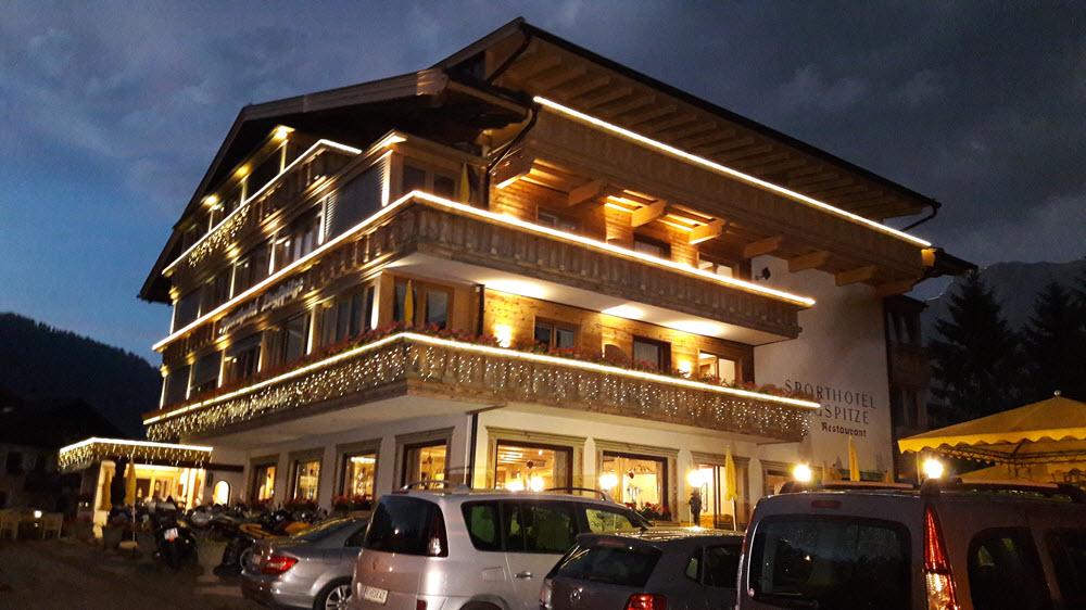 Hotel zugspitze de nuit