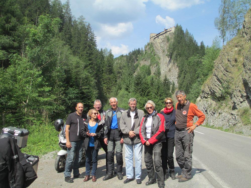 Sur la route des glaciers groupe